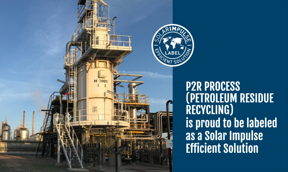 p2r process petroleum residue recycling sif label annoucement linkedin